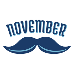 November mustache men health badge