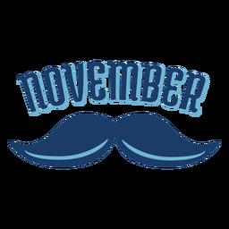November Schnurrbart Männer Gesundheit Abzeichen