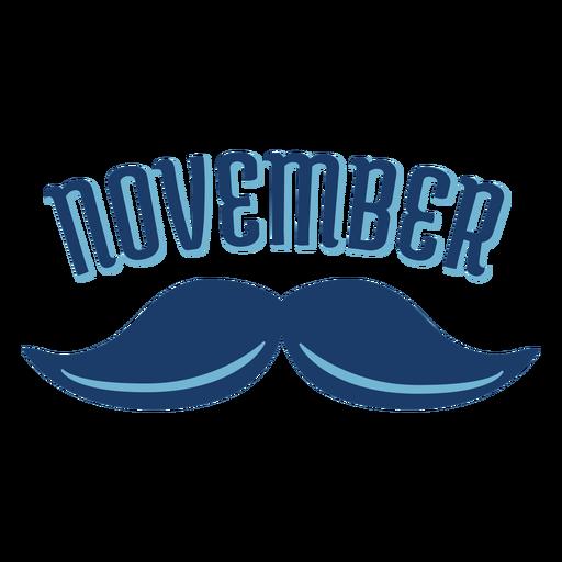 November mustache men health badge Transparent PNG