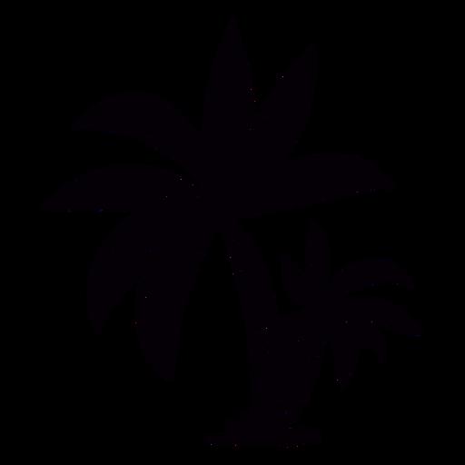 Palm tree hand drawn black