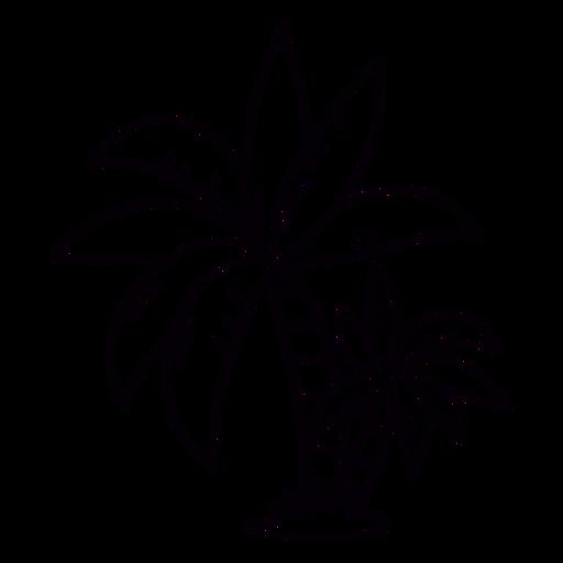 Palm tree hand drawn stroke