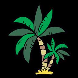 Palme Hand gezeichneter Baum