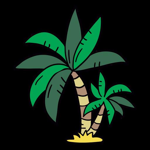 Palm tree hand drawn tree
