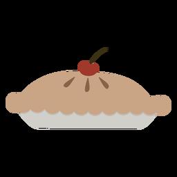 Pie cherry on top flat