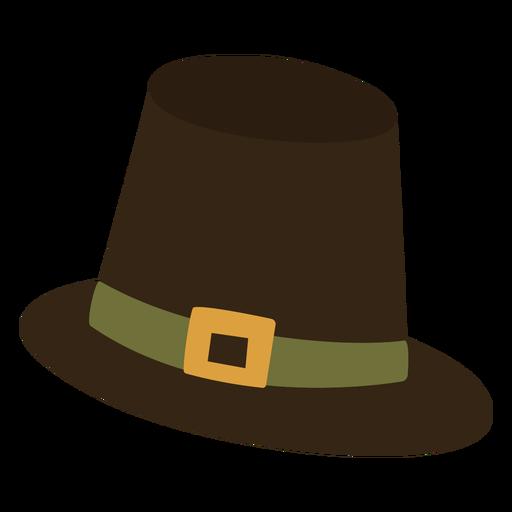 Pilgrim hat flat - Transparent PNG & SVG vector file