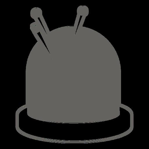 Alfiler cojín agujas icono gris