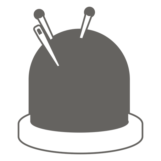 Pin cushion needles grey icon