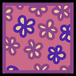 Porta-copos floral rosa roxo plano quadrado