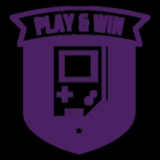 Play win game boy badge purple