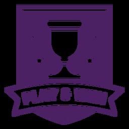 Jogar ganhar emblema de jogo roxo banner