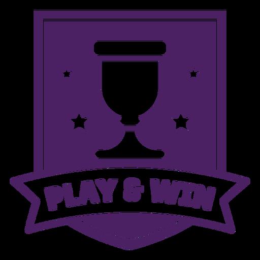 Jugar a ganar juego insignia bandera púrpura Transparent PNG