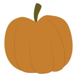 Plump pumpkin flat