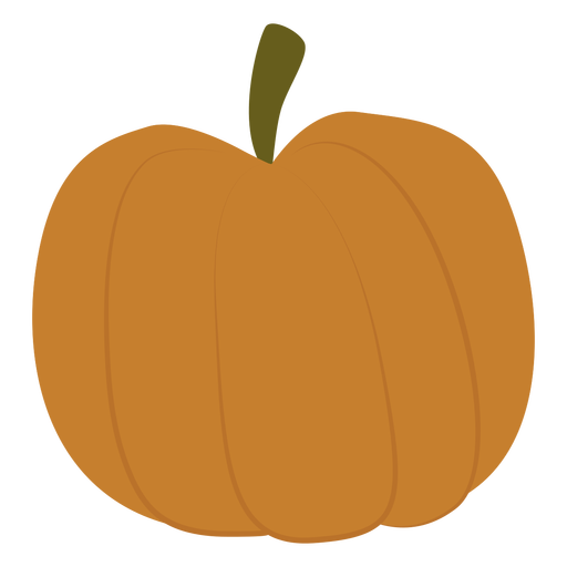 Plump pumpkin flat Transparent PNG
