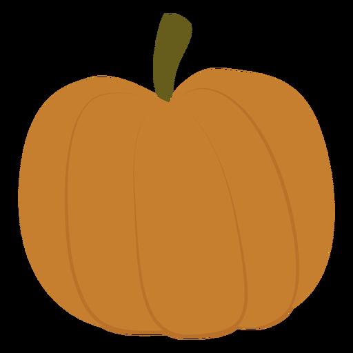 Plump pumpkin flat