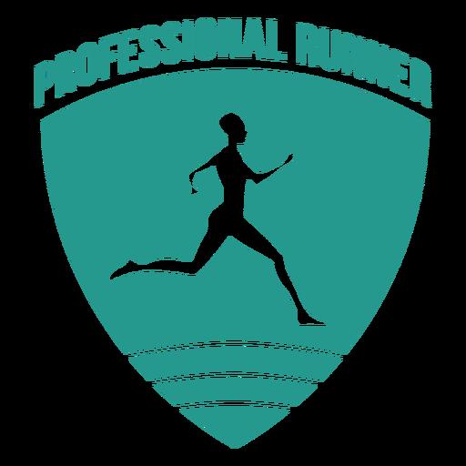 Emblema de corredor profissional