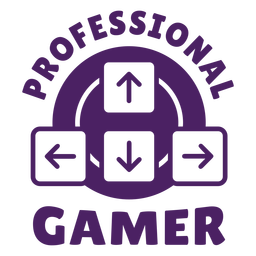 Professional gamer badge purple