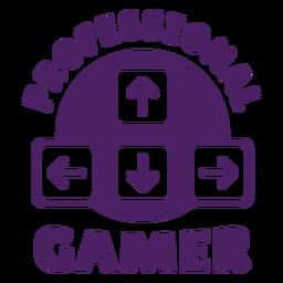 Roxo profissional do emblema do jogador