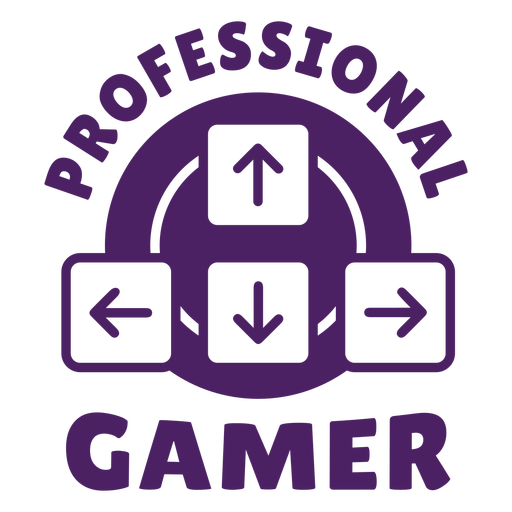 Professional gamer badge purple