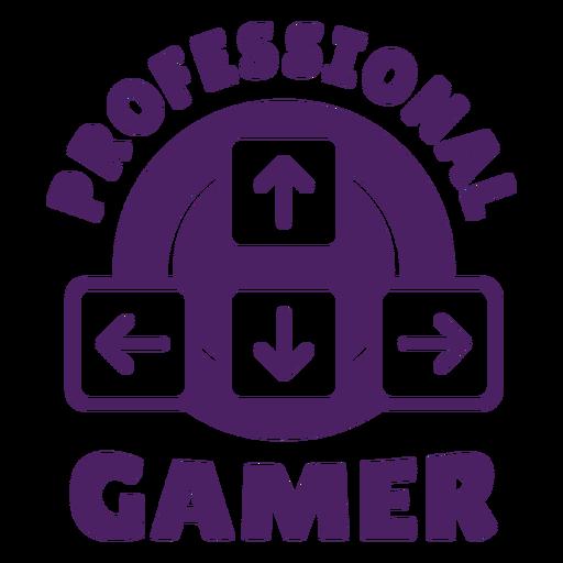 Roxo profissional do emblema do jogador Transparent PNG