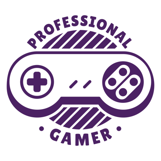 Insignia de controlador de jugador profesional púrpura