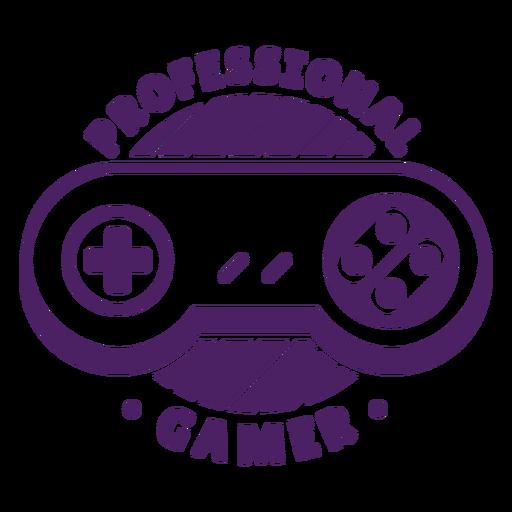 Professional gamer controller badge purple