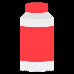 Botella roja con tapa plana icono