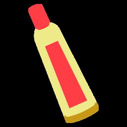 Icono plano tubo químico rojo