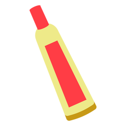 Red chemical tube flat icon