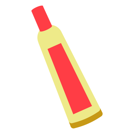 Red chemical tube flat icon Transparent PNG