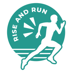 Rise and run circle badge