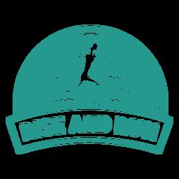 Levantarse y correr insignia de corredor femenino