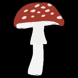 Símbolo plano de hongo manchado de gorra redonda