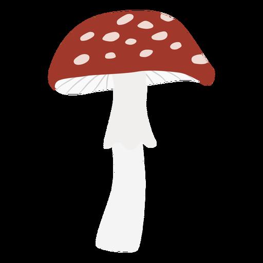 Round cap spotted mushroom flat symbol