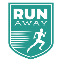 Run away runner shield badge