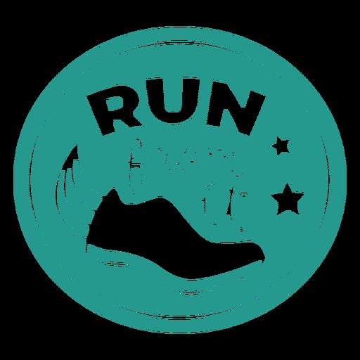 Run from it shoe badge circle