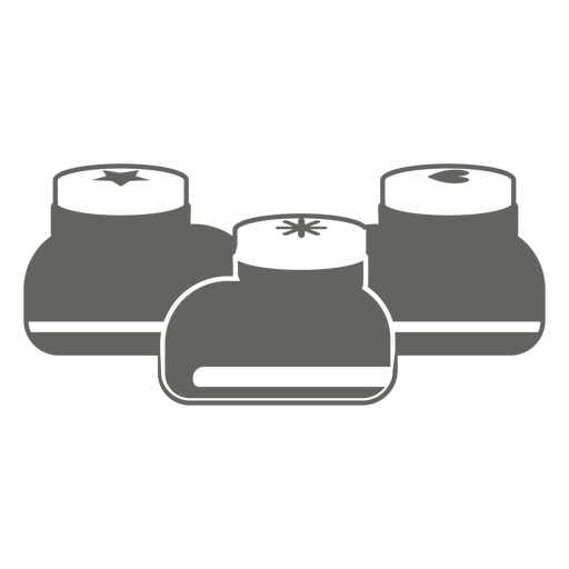 Botella pequeña contenedores icono gris