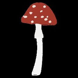 Símbolo plano de hongo moteado de gorra pequeña