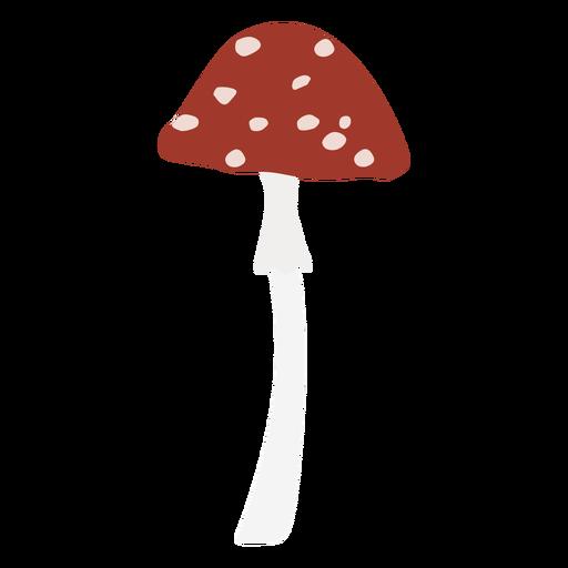 Símbolo plano de hongo moteado de gorra pequeña Transparent PNG