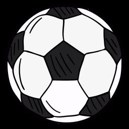 Símbolo desenhado de mão de bola de futebol