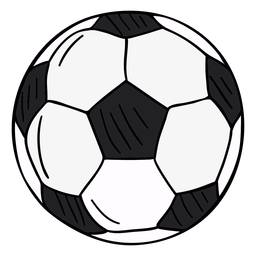 Soccer ball hand drawn symbol
