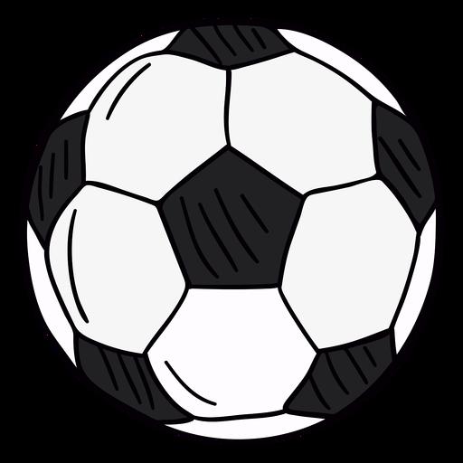 Símbolo dibujado a mano de pelota de fútbol Transparent PNG