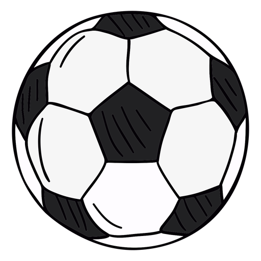 Soccer ball hand drawn symbol Transparent PNG