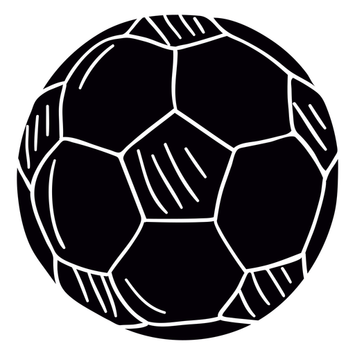 Símbolo de mão desenhada de bola de futebol preto Transparent PNG