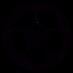 Curso de símbolo desenhado mão de bola de futebol