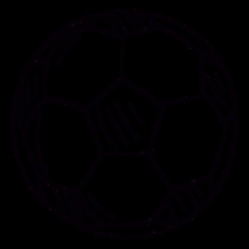 Soccer ball hand drawn symbol stroke Transparent PNG