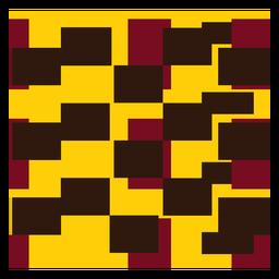 Squared kente composition
