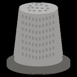Dedal icono plano gris