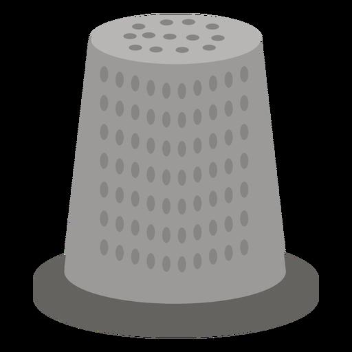 Icono plano gris dedal