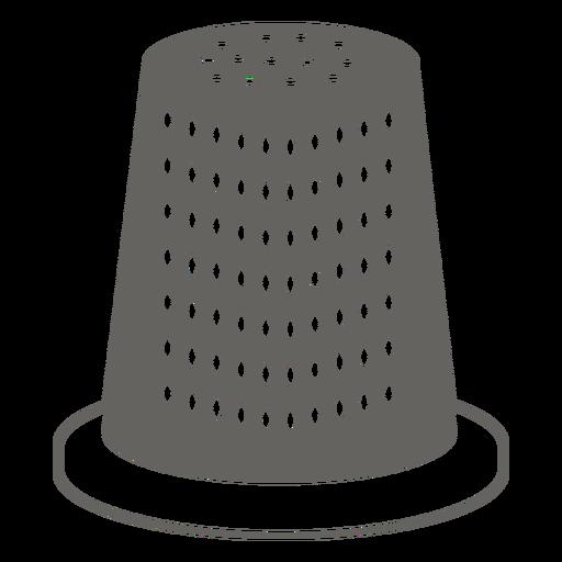 Icono de dedal gris
