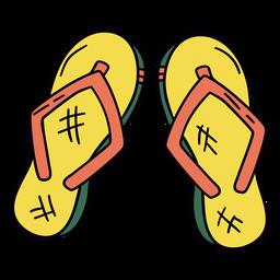 Thong sandles hand drawn symbol